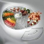 Round Shape Appetizers On Ice With Lid