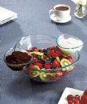 Acrylic Chip & Dip Bowl Set/snack bowl